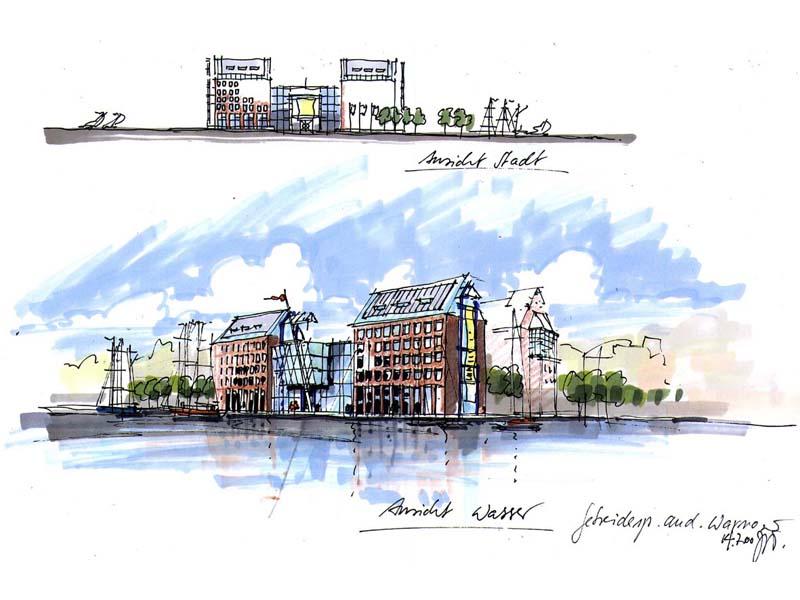 Gisbert jungermann architekturillustrationen skizzen - Architektur skizze ...
